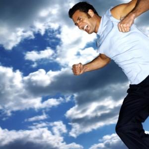 man exercising to increase serotonin
