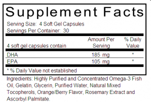 poor fish oil supplement label